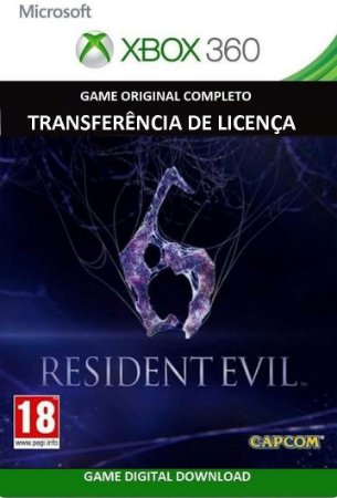 Resident Evil 6 Português Xbox 360 Game Mídia Digital