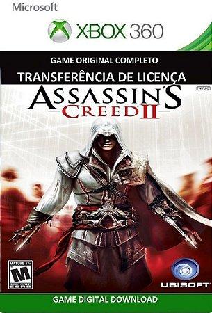 Assassins Creed 2 Game Xbox 360 Mídia Digital