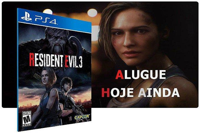 Game Aluguel Resident Evil 3 Nemesis Game Ps4 Digital PSN
