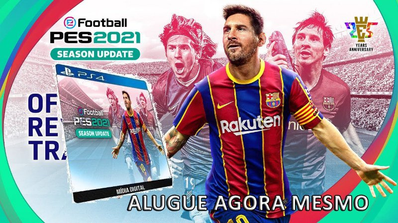 Game Aluguel eFootball PES 2021 Game PS4 Digital PSN