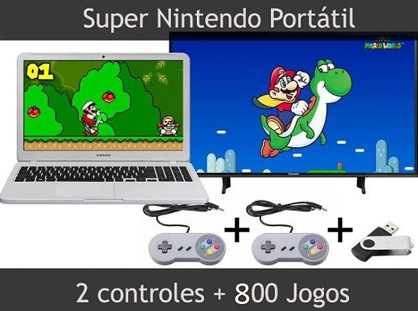 Super Nintendo Portátil 800 Jogos