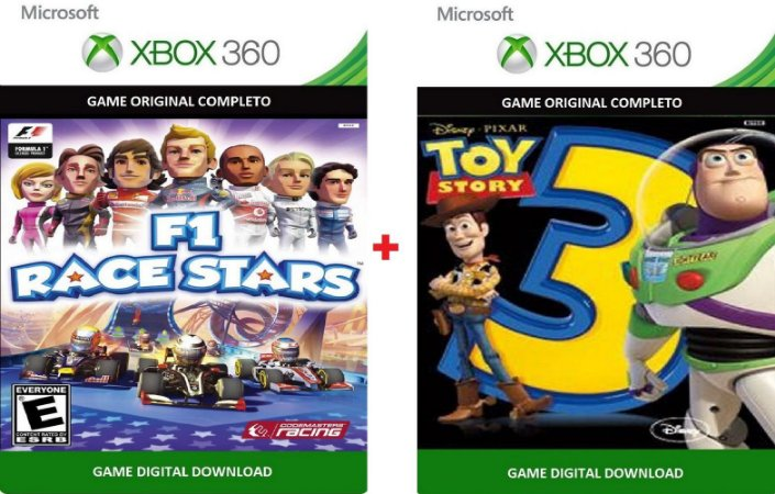 F1 Race Stars + Toy Story 3 Xbox 360 Game Digital Original