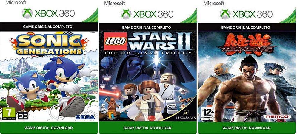 Sonic Generations + Lego Star Wars 2 Trilogy + Tekken 6 Xbox 360 Game Digital Original Xbox Live