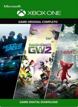 Need For Speed +  Plants vs Zombies GW2 + Unravel - 3 Games Xbox One Original Digital Xbox Live