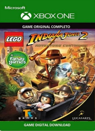 Lego Indiana Jones 2 Game Xbox One Original Digital