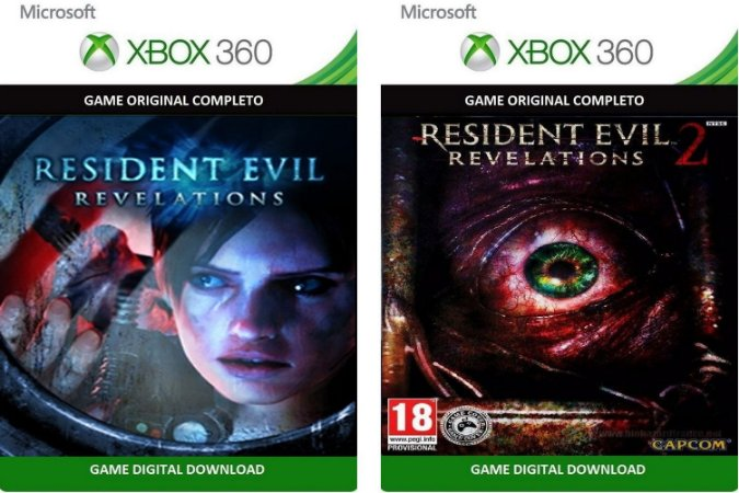 Resident Evil Revelations 1 e 2 Xbox 360 Game Digital Xbox Live