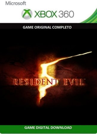 Resident Evil 5 Xbox 360 Game Digital Original