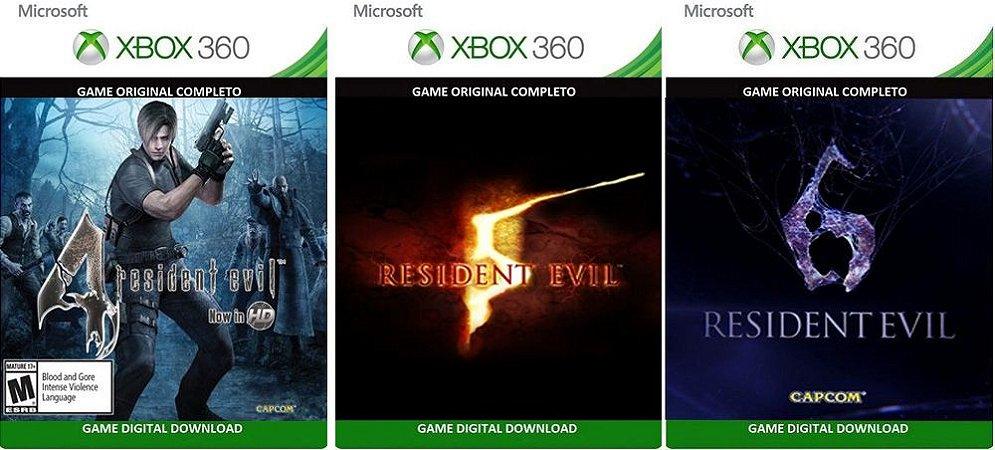 Resident Evil 4 5 6 Xbox 360 Game Digital Original Xbox Live