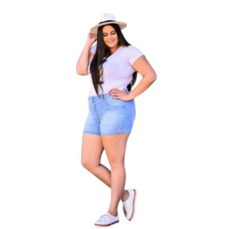 Shorts Feminino Plus Size Boy Fit