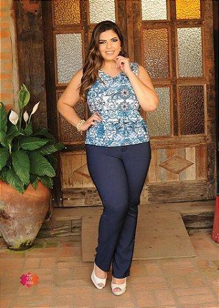 c61126998 Calça Feminina Plus Size Alfaiataria com Bolsos - SC JEANS | Moda ...