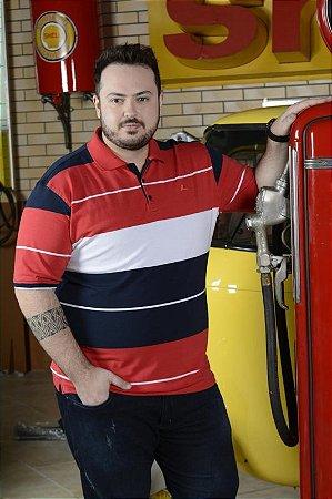 e4181071e Camiseta Polo Masculina Plus Size Com Lycra - SC JEANS | Moda Plus ...