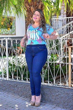 Calça Feminina Plus Size Jeans Legging