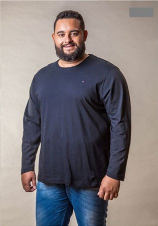 3ca49d060 Camiseta Masculina Plus Size Manga Longa - SC JEANS | Moda Plus Size ...