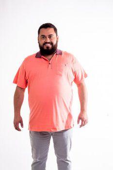 Camiseta Masculino Plus Size Polo Lisa