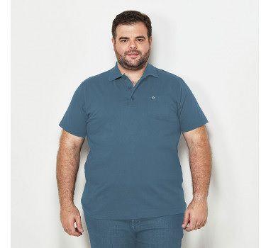 bf55f0201 Camiseta Masculina Plus Size Polo com Bolso - SC JEANS | Moda Plus ...