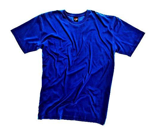 Camiseta Masculino Plus Size Gola Careca Lisa Azul Royal