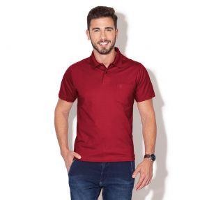 Camiseta Masculino Plus Size Polo Lisa Com Bolso - Cores Diversas