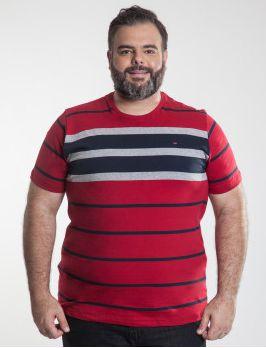 Camiseta Masculino Plus Size Gola Careca Ton Sur ton