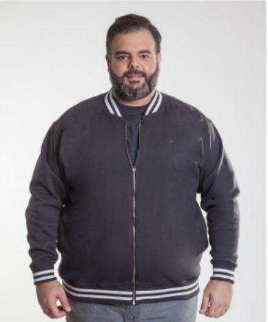 Blusa Masculina Plus Size Moletom Ton Sur Ton
