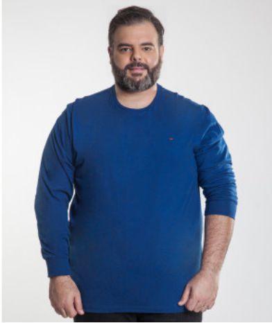 Camiseta Masculina Plus Size Manga Longa Flame