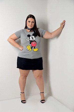 Blusa Feminina Plus Size com Estampa Mickey