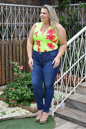ce47294b3 Calça Feminina Plus Size Jeans Skinny Cropped - SC JEANS | Moda Plus ...