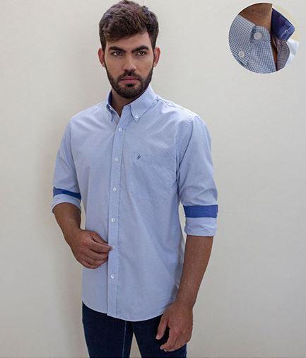 Camisa Masculino Plus Size Manga Longa Fio 50