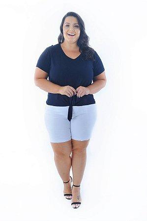 Blusa Feminina Plus Size Amarração