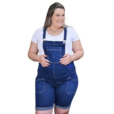 Macaquinho Gestante Jeans