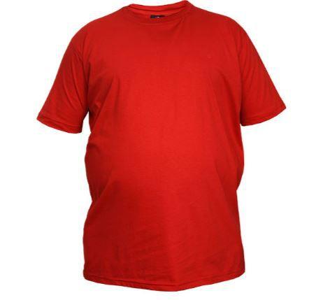 Camiseta Masculina Plus Size Gola Careca Lisa Vermelho
