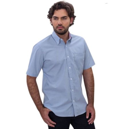 Camisa Masculina Plus Size Manga Curta 100% Algodão