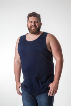 Regata Masculina Plus Size Cavada Lisa