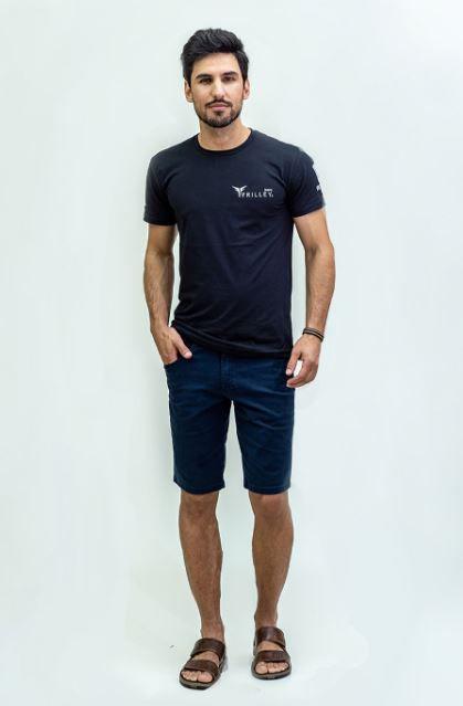 Bermuda Masculina Plus Size Sarja - Marinho