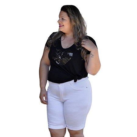 Bermuda Feminina Plus Size Sarja