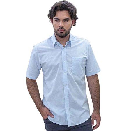 Camisa Masculina Plus Size Manga Curta