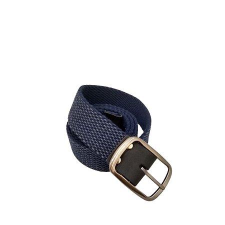 Cinto Masculino Plus Size Lona Azul