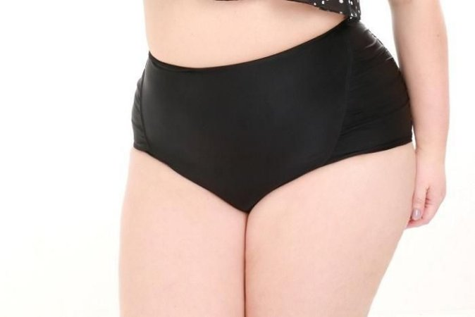 Biquini Plus Size - Calcinha Hot Pants com Franzido - Peça Avulsa