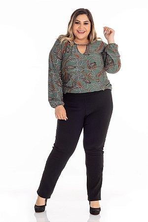 Blusa Feminina Plus Size Crepe