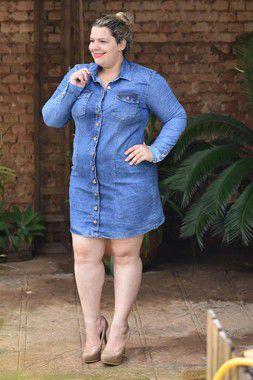 Vestido Plus Size Jeans