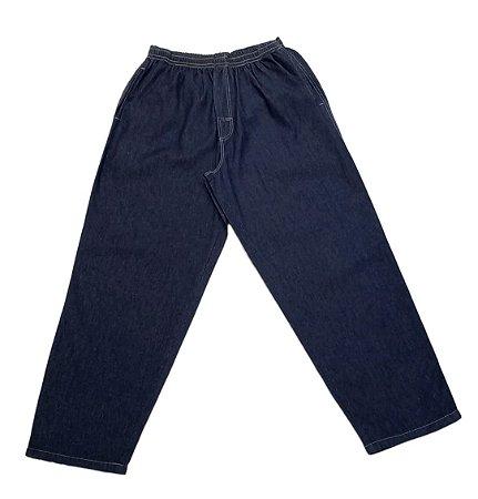 Calça Masculina Plus Size Jeans com Elástico