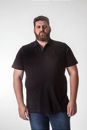 Camiseta Masculina Plus Size Polo Burg