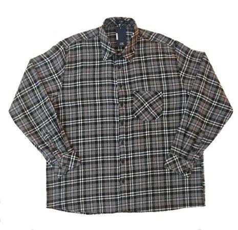 Camisa Masculina Plus Size Manga Longa Flanela