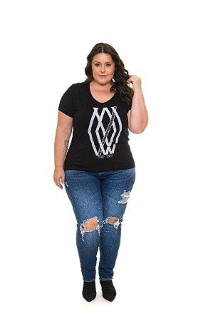 Blusa Feminina Plus Size Estampada