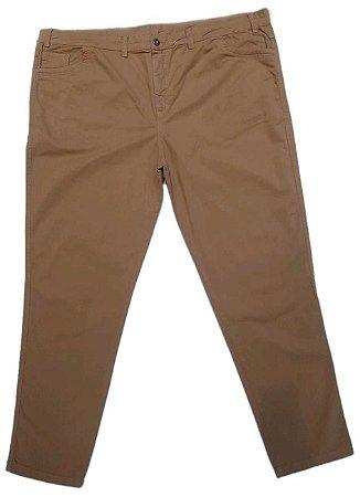 Calça Masculina Plus Size Sarja com Elastano