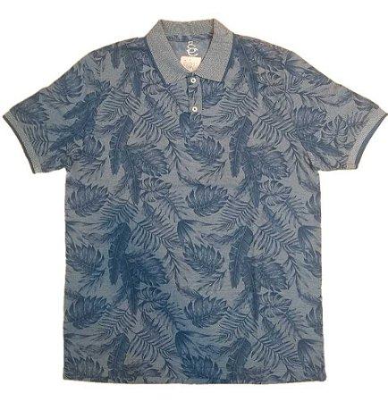 Camiseta Masculina Plus Size Polo Malha