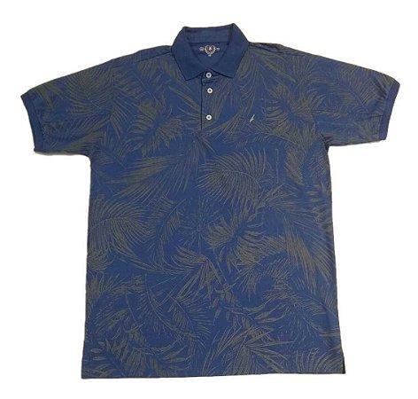 Camiseta Masculina Plus Size Polo Estampada