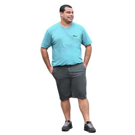 Bermuda Masculina Plus Size Sarja Bolso Faca