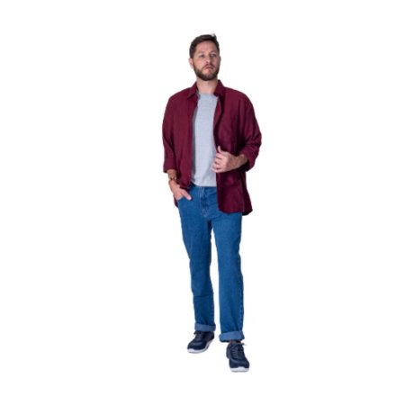 Calça Masculina Plus Size Jeans sem Elastano