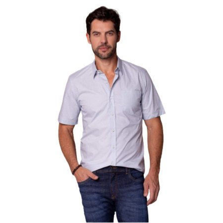 Camisa Masculina Plus Size Poggio Manga Curta
