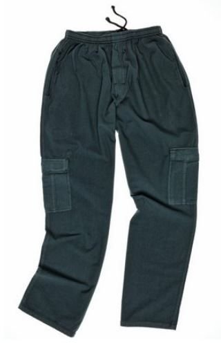 Calça Masculina Plus Size 100% Algodão com Elástico e Bolso Cargo